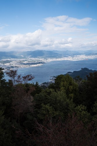 The Seto Inland view at Mount Misen, Miyajiama