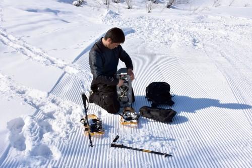 guided snowshoe-trek