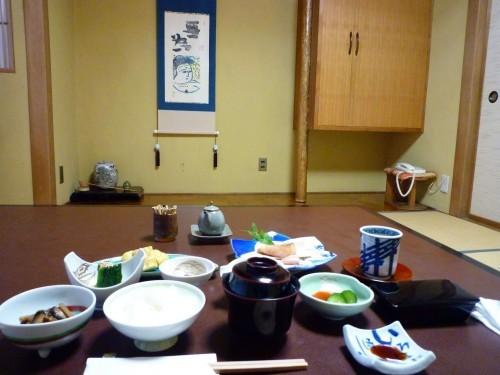 Ogawaso ryokan's breakfast