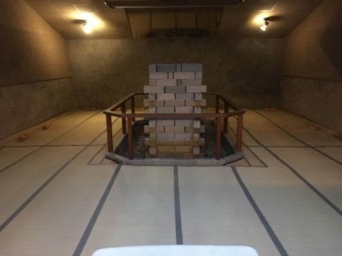 The spacious sauna in Yahata-ya ryokan