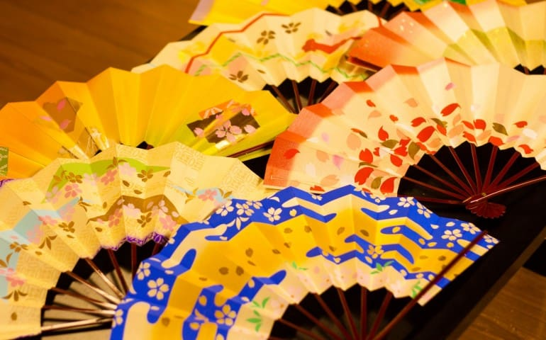 Japanese fan for Nichibu dance