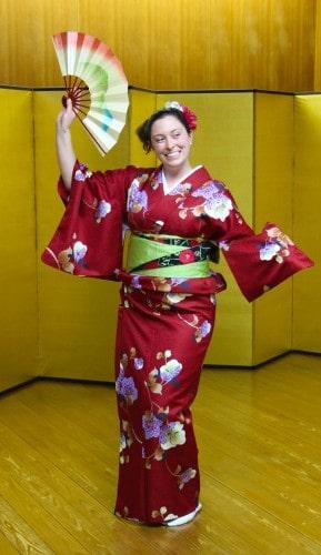 Nihon Buyo dance, using Japanese fan (Sensu)