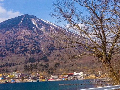 Great view of Lake Chuzenji in Nikko, where you can enjoy water activities