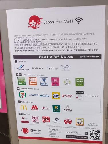 Free major WiFi locations