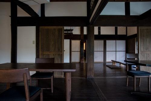 All common areas are on the ground floor at Tanekura Inn, Gifu prefecture.