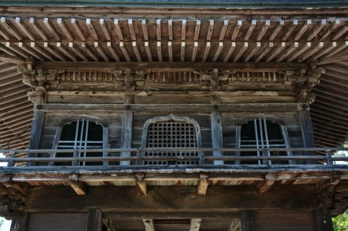 Traditional Wooden Temple in Murakami
