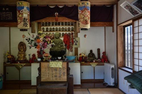 Temple interior in Murakami