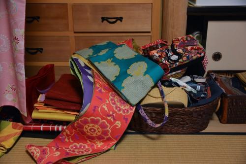 Beautiful obi displayed in Kimono shop