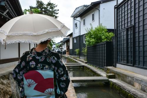 Walk in the old town of Hida Furukawa, Gifu prefecture