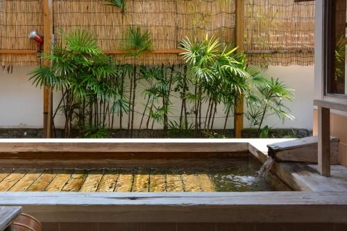 The bath of Karatsu Onsen Ryokan Wataya, Karatsu, Saga prefecture, Kyushu.