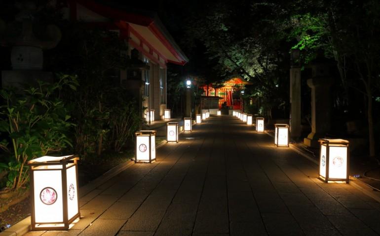 Enoshima illunication event in summer.