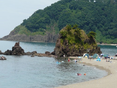 Goishi beach, a stunning coastline in Niigata prefecture, Japan.