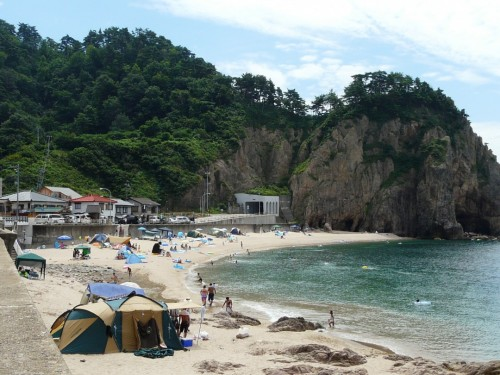 Sasagawa beach, a stunning coastline in Niigata prefecture, Japan.