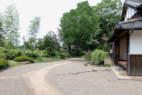 Side Entrance to Nomi-tei.Kitsuki is a castle town in the Oita Prefecture, Kyushu.