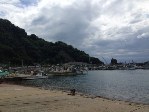 The fishing village at Murakami, Niigata prefecture, Japan.