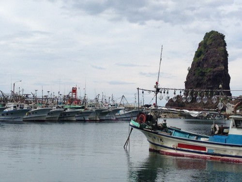Fishing village at Murakami city, Niigata prefecture, Japan.