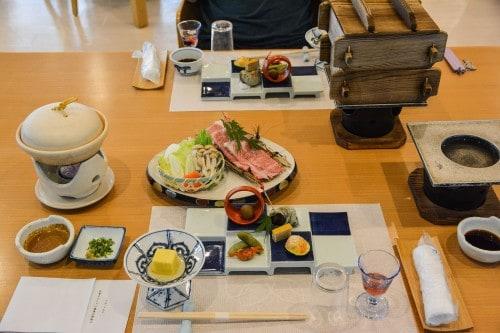 The dinner we had at Mifuneyama Kanko Hotel, Saga prefecture, Kyushu.