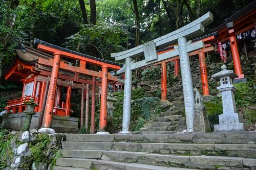 The trail to the top, Yutoku inari shrine, Saga, Kyushu.
