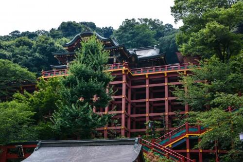 the shrine is built on a hillside, Yutoku inari shrine.