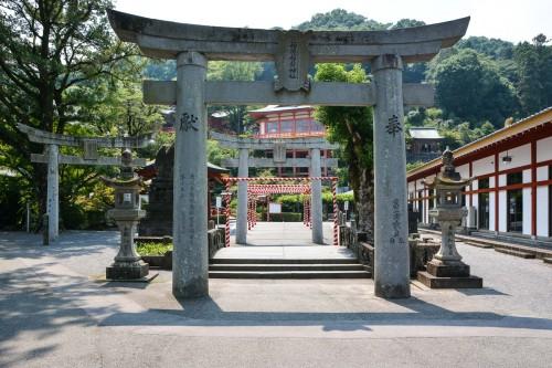 The torii gate of Yutoku inari shrine, One of the Three Largest Shrines Dedicated to Inari in Japan.