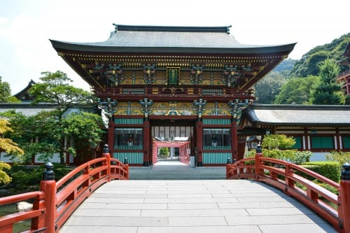 The colourful gate of Yutoku inari shrine, One of the Three Largest Shrines Dedicated to Inari in Japan.