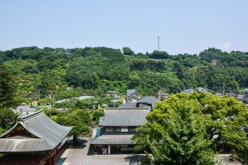 The view from Yutoku inari shrine's honden, Saga, Kyushu.