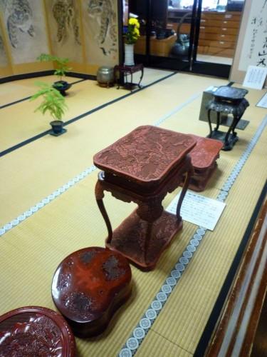 Kokonoe-en's collection on display.