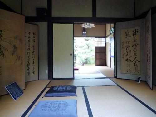 Inside of an old samurai residene inside Murakami's Kinen Koen park.