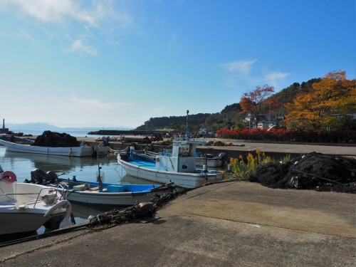 The fishing village in Himi city, Toyama prefecture, Japan.
