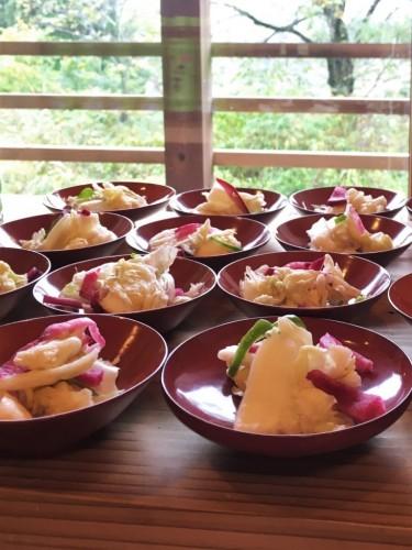 Making lunch at Yamakoshi, Niigata