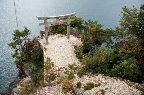 Chikubu, a Sacred Buddhist Island in the Lake Biwa, Shiga prefecture, Japan.