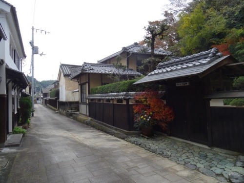 The historic town of Ozu, Ehime prefecture, Shikoku island , Japan.