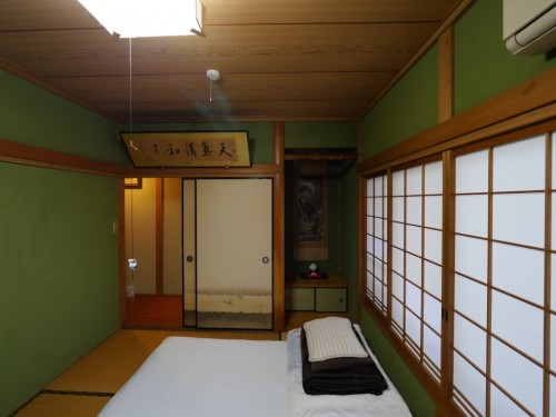 Guesthouse Shiromachi in Ozu City, Ehime, Shikoku island, Japan.