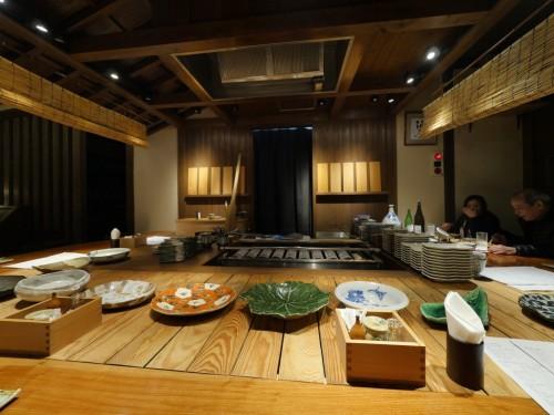 Dinner at the Robatayaki Restaurant in Ozu city, Ehime, Shikoku Island, Japan.