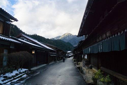 Tsumago Post Town famous for the Nakasendo post town in Gifu prefecture, Japan.