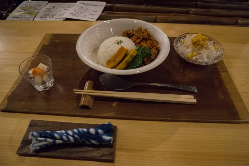 Curry Dinner at Yui-an Hostel and Cafe