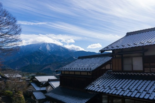 The Magome Post town in Nakatsugawa city, Japan.