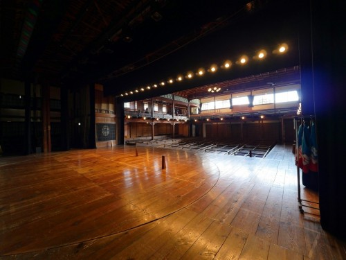 The wooden Uchiko-za theater in Uchiko town, Ehime, Japan.