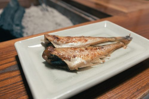 Grilled Fish during Home Cooked Meal in Takane Village Homestay