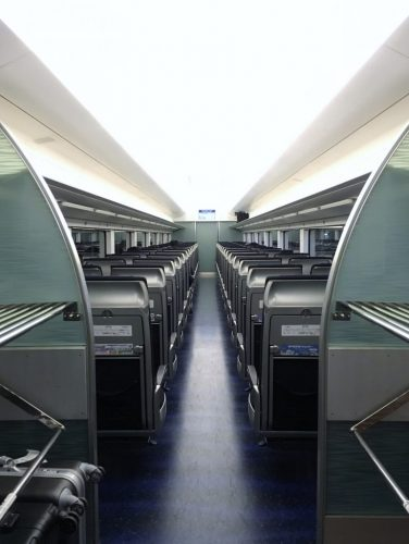 Keisei Skyliner train inside