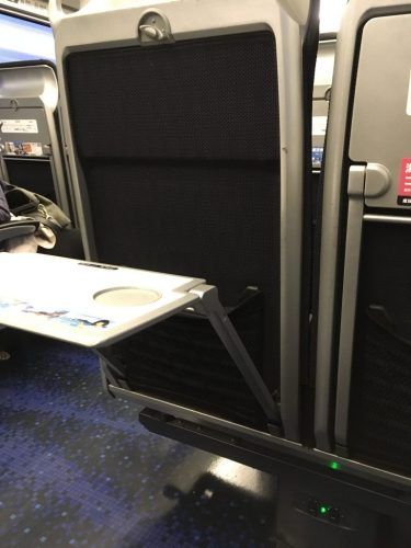 Keisei Skyliner Tray Table