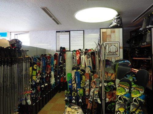 Sortierter Shop für Skiausrüstung