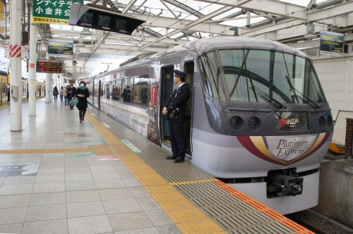 The Red Arrow Limited Express awaits travelers departing for Kawagoe.