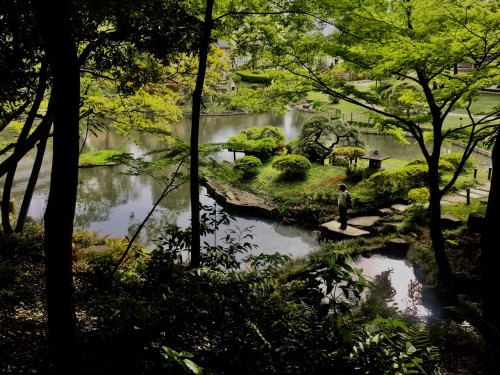 Kagurazaka Neighborhood Guide Shouseikaku Gardens Walking Path Pond Greenery Tokyo Japan Eisei Bunko Musuem