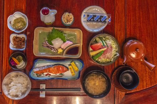 Goushikan Inn Ryokan Traditional Accommodation Local Cuisine Niigata Prefecture Murakami Salmon Breakfast