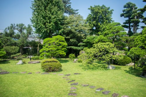 Traditional House and Japanese Garden in Usuki, Oita Prefecture, Japan