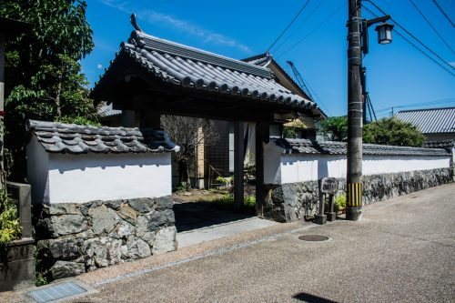 Entrance to a samurai house in Saiki, Oita Prefecture, Japan