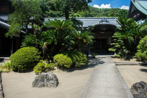 A temple in Saiki City, Oita Prefecture, Japan