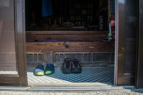 Entrance to a traditional house near Usuki City, Oita Prefecture, Japan