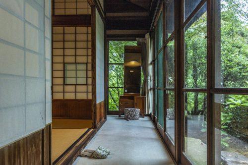 The traditional building of Agemiya Restaurant in Nakatsugawa, Gifu Prefecture, Japan